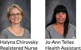 Staff Photos of Halyna Chirovsky and Jo-Ann Tellez